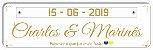 Placa Em Pvc Personalizadas P/ Carro  - Casamento - Imagem 5