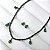 Conjunto Brinco Gota Pequena e Choker com Gotinhas Verde Ródio - Imagem 2