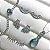 Brinco Ear Cuff Mini Navetinhas Azul Claro Ródio - Imagem 2