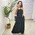 Vestido Longo Viscose Cah Preto - Imagem 1