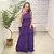 Vestido Longo Viscose Cah Roxo - Imagem 1