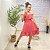 Vestido Viscose July Liso Rose - Imagem 1