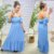 Vestido Viscose Monalisa Azul - Imagem 1