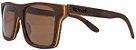 Óculos de Sol de Madeira Leaf Eco Beagle Louro Preto - Imagem 1