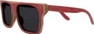 Óculos de Sol de Madeira Leaf Eco Beagle Vermelho - Imagem 1