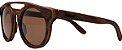Óculos de Sol de Madeira Leaf Eco Eleanor Louro Preto - Imagem 1