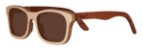 Óculos de Sol de Madeira Leaf Eco Groove Maple Mogno - Imagem 1