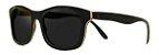 Óculos de Sol de Madeira Leaf Eco Groove Preto - Imagem 1