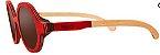 Óculos de Sol de Madeira Leaf Eco Layla Vermelho Maple - Imagem 1