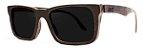 Óculos de Sol de Madeira Leaf Eco Miles Preto - Imagem 1