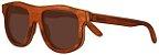 Óculos de Sol de Madeira Leaf Eco Pug Muiracatiara - Imagem 1