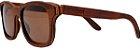 Óculos de Sol de Madeira Leaf Eco Roy Louro Preto - Imagem 1