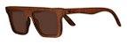Óculos de Sol de Madeira Leaf Eco Sanchez Imbuia - Imagem 1
