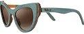 Óculos de Sol de Madeira Leaf Eco Thunder Azul Claro - Imagem 1