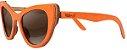 Óculos de Sol de Madeira Leaf Eco Thunder Laranja - Imagem 1