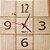 Relógio de Parede Quadrado de Pinus - Imagem 1