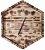 Relógio Sextavado de Pinus Queimado - Imagem 1