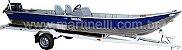Barco de alumínio Martinelli Tornado 600 CL indicado até 30HP (acompanha todos os Itens p/ passar a embarcação e motor de popa para comando a distancia, pronto para instalar o seu motor) - Preço a vista R$ 12.990,00 (Não acompanha motor de popa e carreta) - Imagem 2