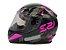 Capacete LS2 FF353 Rapid Palimnesis Black Pink  - Imagem 1