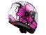 Capacete LS2 FF353 Rapid Poppies White/pink 54 - Imagem 3