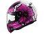 Capacete LS2 FF353 Rapid Poppies White/pink 54 - Imagem 1