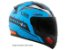 Capacete LS2 FF353 Rapid Thunder Matt Blue black orange - Imagem 3