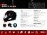 Capacete Shiro Sh-600 Robotic Preto Vermelho Azul - Imagem 7
