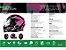 Capacete Shiro Sh-881sv Aerodinamic Rosa Cinza - Imagem 7
