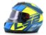 Capacete Ls2 FF397 Vector Kripton Matte Blue Yellow - Imagem 1