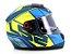 Capacete Ls2 FF397 Vector Kripton Matte Blue Yellow - Imagem 3