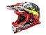 Capacete Ls2 MX437 Crusher Black Red - Imagem 1
