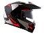 Capacete LS2 FF324 Metro Evo Sub Matt Black Grey Red - Imagem 3