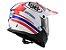 Capacete LS2 MX436 Pionner Quarterback White Red Blue - Imagem 3