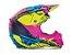 Capacete Fly F2 Retrospec Carbono Mips Rosa Amarelo Fluor - Imagem 1