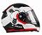 Capacete Ls2 FF353 Rapid Ghost White Black Red - Imagem 1