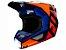 Capacete Fox MX V1 Mvrs Prix Orange Blue - Imagem 1