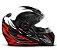 CAPACETE FW3 GT2 BRANCO  VERMELHO BRILHANTE  - Imagem 2