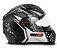 CAPACETE FW3 GT5 PRETO COM GRAFITE  - Imagem 2