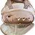 Bolsa Maternidade Média Rosa Perolado com inicial floral - Imagem 2