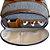 Bolsa Maternidade Média Linho cinza com caramelo - Imagem 3