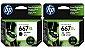 Kit Cartucho HP 667XL Preto e Colorido - Imagem 1