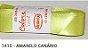Fita de Cetim Lisa 1415 Amarelo Canário - Imagem 1