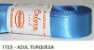 Fita de Cetim Lisa 1723 Azul Turquesa - Imagem 1