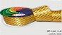 Fita Cetim Quadriculada Sinimbu n°9 (38mm) - 1148 Ouro - Imagem 1