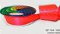 Fita Cetim Quadriculada Sinimbu n°9 (38mm) - 1828 Rosa Fluorescente - Imagem 1