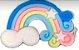 Aplique Emborrachado Arco Íris Azul - Imagem 1