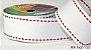 Fita Decorativa Pesponto n°9 SINIMBU - 01 Branco c/ Vermelho - Imagem 1