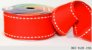 Fita Decorativa Pesponto n°9 SINIMBU - 04 Vermelho c/ Branco - Imagem 1