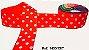 Fita Decorativa com Poá n°9 SINIMBU - C07 Vermelho c/ Branco - Imagem 1