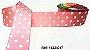 Fita Decorativa com Poá n°9 SINIMBU - C17 Rosa c/ Branco - Imagem 1
